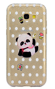 Funda Para Samsung Galaxy Transparente Diseños Cubierta Trasera Brillante Oso Panda Suave TPU para A3 (2017) A5 (2017)