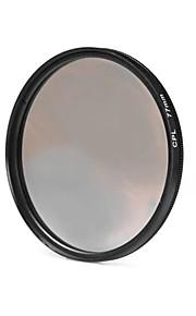 77mm cpl filterlinse til Nikon Canon Sony DSLR kamera - sort