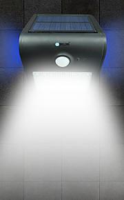 brelong solar pir lys 24 x smd 2835 6w 500lm trådløs vanntett menneskekropp induksjon svart / hvit / sølv / gull
