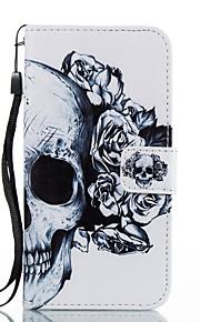 Funda Para Samsung Galaxy Cartera Soporte de Coche con Soporte Flip Diseños Magnética Cuerpo Entero Cráneos Dura Cuero Sintético para J7