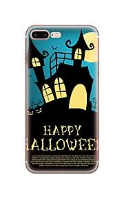 Hülle Für Apple iPhone X iPhone 8 iPhone 8 Plus Muster Rückseitenabdeckung Halloween Weich TPU für iPhone X iPhone 8 Plus iPhone 8 iPhone