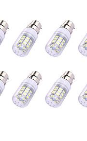 8pcs 2W LED-kornpærer T 30 leds SMD 5730 LED Lys Varm hvit Hvit 150lm 3000-3500/6000-6500K 110-120V