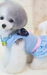 Koira Hameet Koiran vaatteet Rento/arki Prinsessa Sininen Pinkki