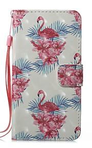 hoesje Voor Apple iPhone X iPhone 8 Kaarthouder Portemonnee met standaard Volledig hoesje Flamingo Hard PU-nahka voor iPhone 8 Plus