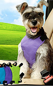 고양이 강아지 강아지용 자동차 시트 하네스 /강아지 안전 하네스 조절 가능 솔리드 나일론 블랙 퍼플 블루