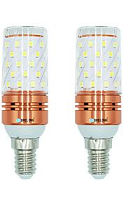 2pcs 12W E14 LED-kornpærer T 60 leds SMD 2835 Varm hvit Hvit Dual Light Source Color 1000lm 3000-3500  6000-6500  3000-6500K AC 220-240V
