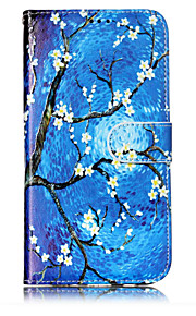 For Case Cover Card Holder Wallet with Stand Flip Pattern Full Body Case Flower Tree Hard PU Leather for Samsung Galaxy J7 (2016) J7