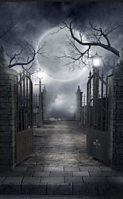 5 * 7ft stor fotografering baggrundsramme klassisk mode halloween gotisk arkitektur tema til studio professionel fotograf