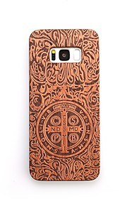 For Case Cover Shockproof Embossed Back Cover Case Punk Hard Wooden for Samsung Galaxy S8 Plus S8