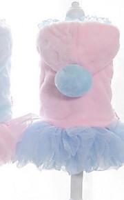 Chat Chien Robe Vêtements pour Chien Soirée Décontracté / Quotidien Garder au chaud Halloween Noël Princesse Bleu Rose