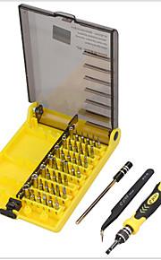 45 en 1 conjunto de destornillador herramientas de reparación de apertura kit innver manga hexagonal con pinzas extensión eje electrónica