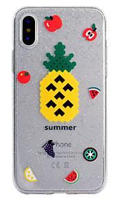 케이스 커버 투명한 패턴 다시 커버 케이스 과일 반짝이 사과 사과 iphone x iphone 8 plus iphone 8 iphone 7 plus의 부드러운 tpu
