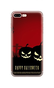 fodral Till Apple iPhone X iPhone 8 iPhone 8 Plus Mönster Skal Halloween Mjukt TPU för iPhone X iPhone 8 Plus iPhone 8 iPhone 7 Plus