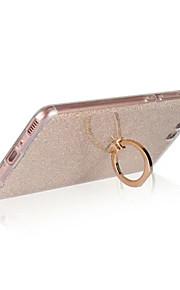 Etui Til Huawei Ringholder Bakdeksel Glimtende Glitter Myk TPU til Huawei P10 Plus Huawei P10 Lite Huawei P10 Huawei P9 Huawei P9 Lite