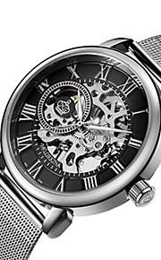 Homens Mulheres Relógio Esqueleto Relógio Militar relógio mecânico Japanês Automático - da corda automáticamente Calendário Cronógrafo