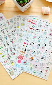 6 stk / sett barn dagbok klistremerke klistremerke klistremerke klistremerke