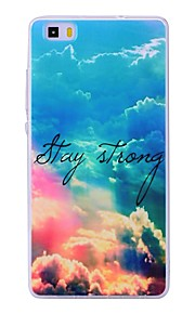 Case For Huawei P8 Lite (2017) P10 Lite Pattern Back Cover Word / Phrase Scenery Soft TPU for Huawei P10 Lite Huawei P9 Lite Huawei P8