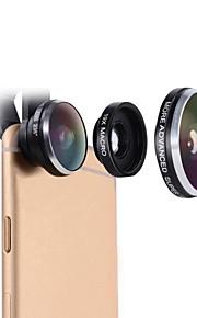 lente do telefone celular mactrem 235 graus fisheye 19x super macro câmera universal lente do telefone