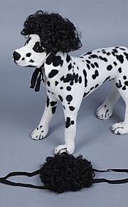 כלב פאה בגדים לכלבים אחר חומר לכל העונות מסוגנן מפופס שחור סגול צהוב אדום קשת עבור חיות מחמד
