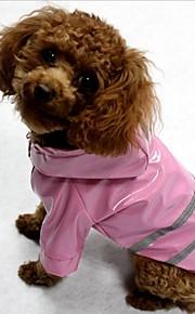 Gato Cachorro Casacos Capa de Chuva Á Prova de Água/Humidade Faixa Refletiva Roupas para Cães Terylene Primavera/Outono Inverno