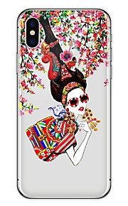 Custodia Per Apple iPhone X iPhone 8 Plus Fantasia/disegno Custodia posteriore Sexy Morbido TPU per iPhone X iPhone 8 Plus iPhone 8