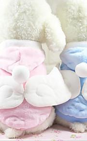 Katze Hund Mäntel Kapuzenshirts Hundekleidung Lässig/Alltäglich warm halten Engel & Teufel Blau Rosa Kostüm Für Haustiere