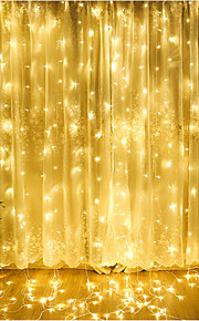 utendørs 4,5m x 3m ledd gardin icicle streng lys fairy krans vanntett for bryllup hjemme dekorasjon