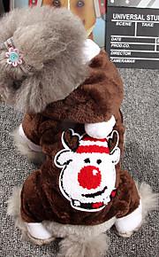 Hund Hoodies Hundekleidung Stilvoll Weihnachten Braun Rot Kostüm Für Haustiere