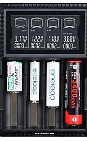 KLARUS CH4S Batterilader lm Automatisk Modus Bærbar Profesjonell Med Heat Sink Beste kvalitet Med USB-port Lett og praktisk Ladestatus
