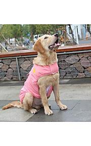 Gato Cachorro Colete Roupas para Cães Algodão Inverno Primavera/Outono Vestido Convertível Mantenha Quente Sólido Vermelho Azul Rosa claro