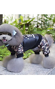 Gato roupas para casacos de cachorro / macacão roupas de cachorro novo casual / diário manter a carta de Natal quente&número preto