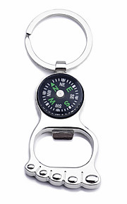 Compasses Bottle Opener Directional Multi Function Outdoor Exercise Chrome cm pcs