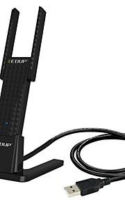 edup ep-1632 듀얼 밴드 무선 네트워크 카드 usb 카드 데스크탑 노트북 휴대용 와이파이 수신기 600m 듀얼 밴드 표준 1.2 m 연장 코드 자료