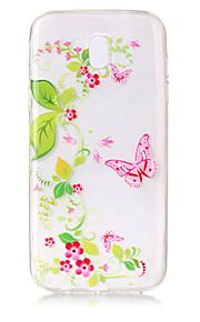 Kılıf Na Samsung Galaxy J7 (2017) J5 (2017) Przezroczyste Wzór Etui na tył Motyl Kwiaty Miękkie TPU na J7 (2016) J7 (2017) J5 (2016) J5