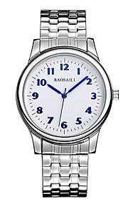 Homens Relógio Militar Relógio de Pulso Japanês Quartzo Cronógrafo Impermeável Aço Inoxidável Banda Luxo Casual Elegant Minimalista Prata