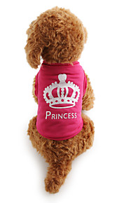 Cat Dog Shirt / T-Shirt Dog Clothes Tiaras & Crowns Rose Terylene Costume For Pets Women's Casual/Daily