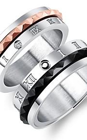 Herre Dame Ringe sæt Rhinsten Rhinsten Titanium Stål Smykker Til Bryllup Forlovelse