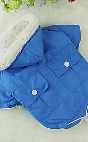 Katze Hund Mäntel Kapuzenshirts Hundekleidung Lässig/Alltäglich warm halten Chrismas Warm-Ups Halloween Solide Grün Blau Rosa Kostüm Für