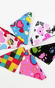 Gato Cachorro Gravata/Gravata Borboleta Roupas para Cães Tecido Primavera/Outono/Inverno/Verão Casual Lolita Color Block Cor Aleatória