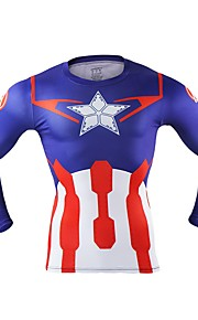Captain America Mężczyzna Boże Narodzenie Festiwal/Święto Kostiumy na Halloween Red Jendolity kolor