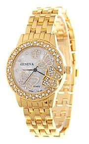 Dame Kjoleur Armbåndsur Simuleret Diamant Ur Kinesisk Quartz Imiteret Diamant Legering Bånd Afslappet Sommerfugl Minimalistisk Sølv Guld
