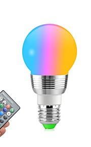 1pc 5w e27 / e14 ledet rgb pære dimbar magisk ferie rgb belysning ir fjernkontroll 16 farger ac85-265v