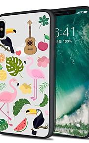 Custodia Per Apple iPhone X iPhone 8 Plus Fantasia/disegno Custodia posteriore Fenicottero Morbido TPU per iPhone X iPhone 8 Plus iPhone