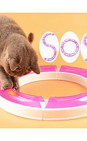 katt leksak husdjursleksaker interaktiva leksaker kula spår disk plast för husdjur