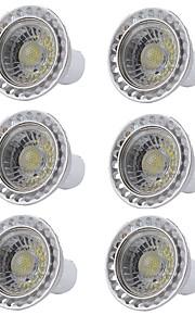 6szt 5W 400 lm GU10 Żarówki punktowe LED 1 Diody lED COB Przysłonięcia LED Light Ciepła biel Zimna biel AC 110-130V AC 220-240V