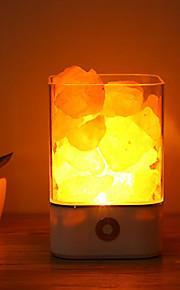 1pc USB לילה אור אספקת החשמל טבעי מלח מלח הימלאיה ייחודי מלחים קריסטל אור תפאורה אמנות