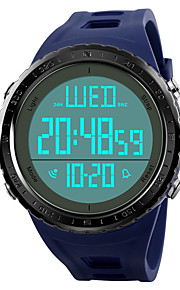 Homens Relógio de Pulso Relogio digital Relógio Esportivo Japanês Digital Alarme Calendário Cronógrafo Impermeável Dois Fusos Horários