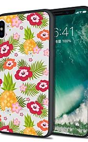 Custodia Per Apple iPhone X iPhone 8 Plus Fantasia/disegno Custodia posteriore Frutta Fiore decorativo Morbido TPU per iPhone X iPhone 8