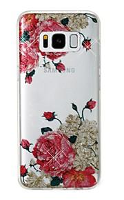 Custodia Per Samsung Galaxy S8 Plus S8 IMD Fantasia/disegno Per retro Fiore decorativo Glitterato Morbido TPU per S8 Plus S8 S7 edge S7
