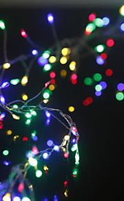 Vanntett. 400 LED 2M String Light RGB Vekselstrøm- Drevet